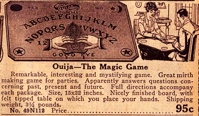 Antique Ouija Board Ad