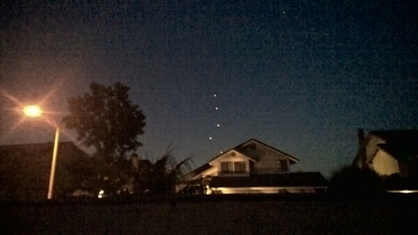 Orange County California UFOs